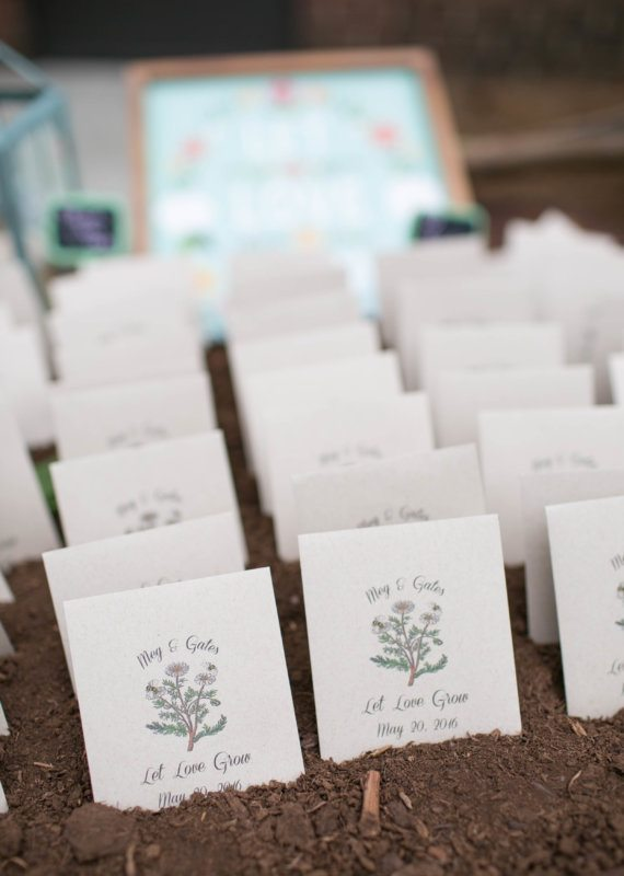 let love grow seed wedding favors