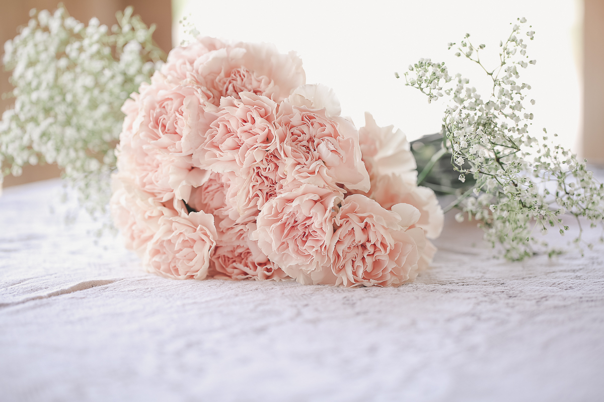 light pink carnation bouque