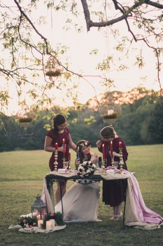 wedding whimsical tablescape