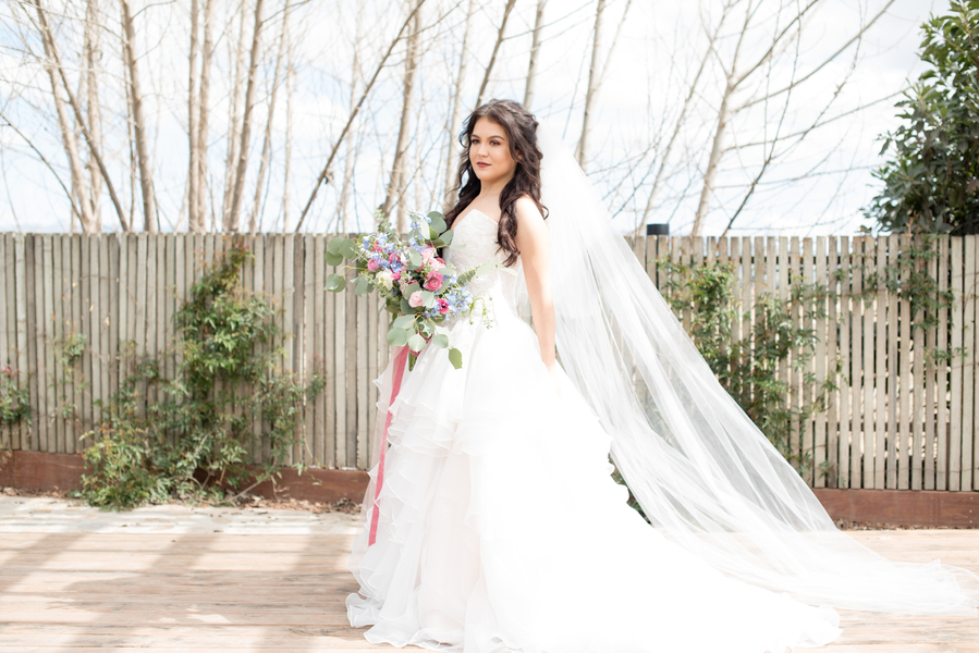 Stunning Watercolor Spring Styled Wedding