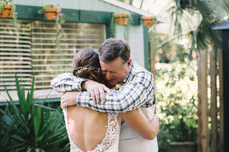 father daughter bride first look