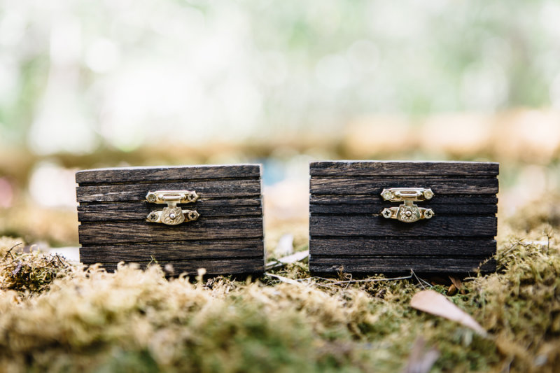 rustic wood wedding ring box