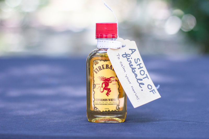 fireball wedding favor
