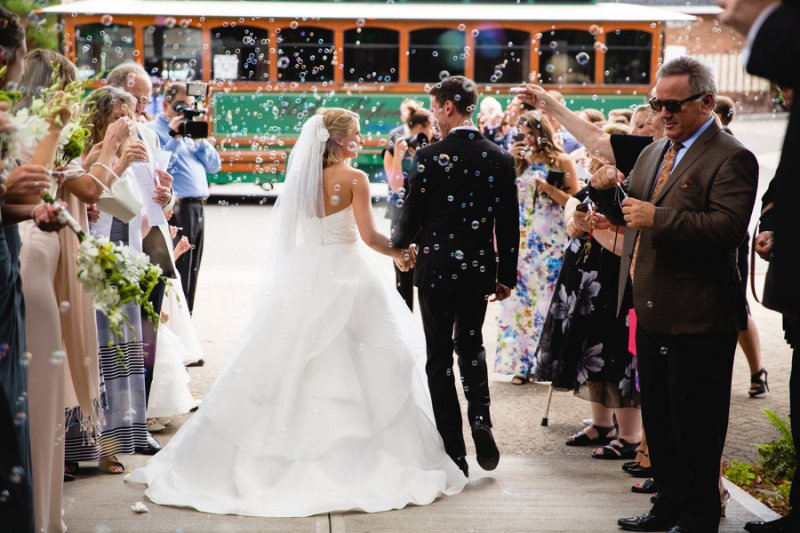 bubble wedding ceremony