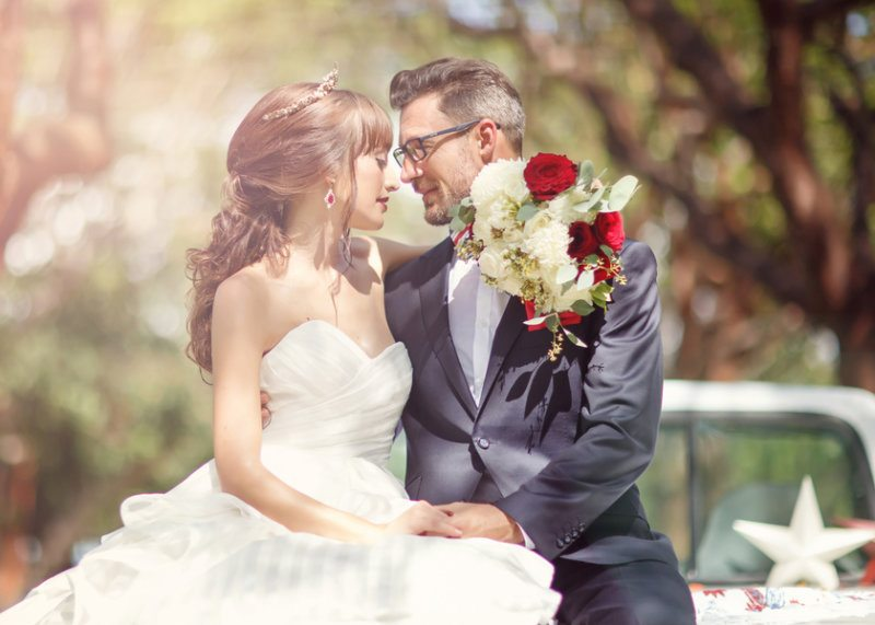 red white and blue wedding