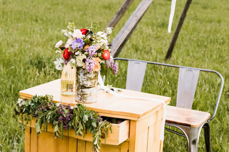 Bozeman Montana Wedding Rustic Styled Shoot Glittery Bride