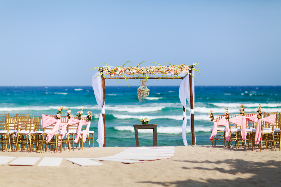 Beach Wedding on the Shores of the Caribbean Sea