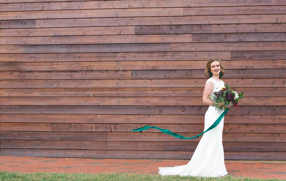 Emerald Boho Themed Wedding In North Carolina
