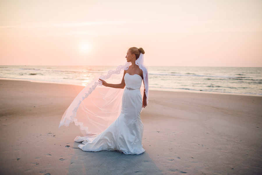 North Carolina Beach Styled Bridal Portrait