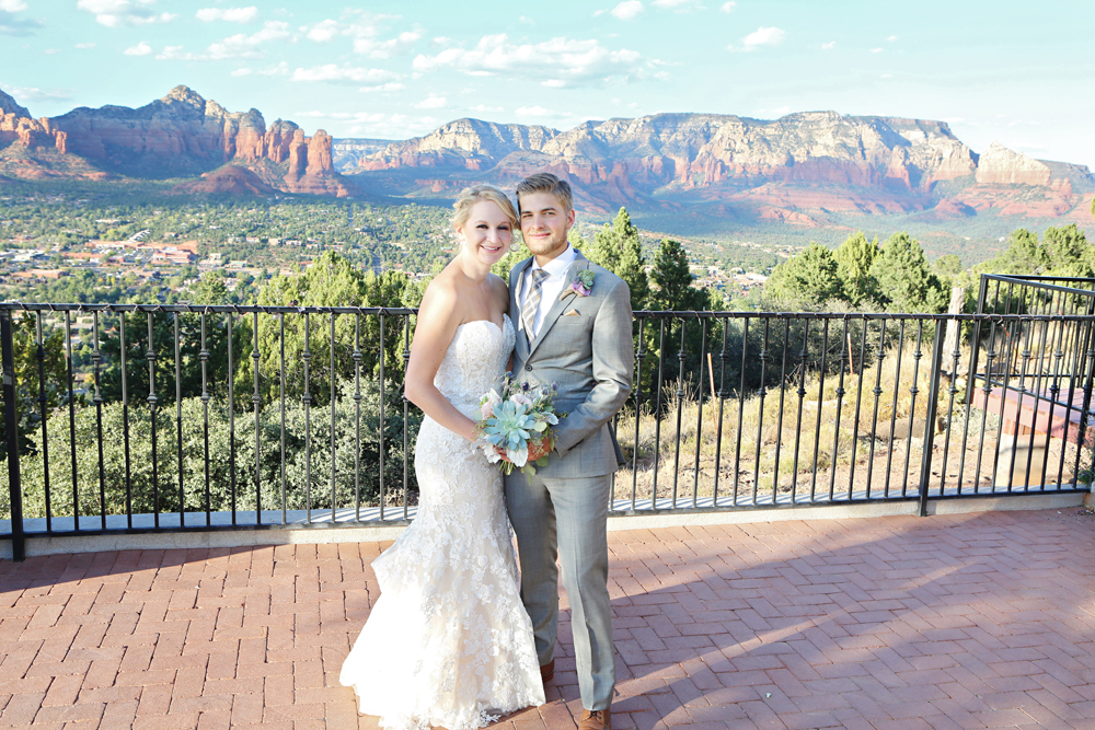 Arizona mountain wedding