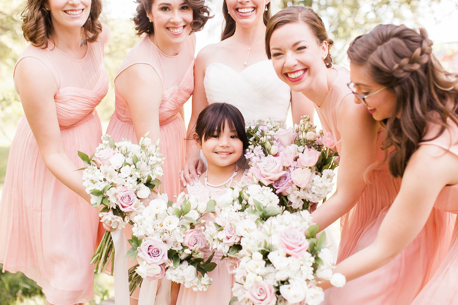 Romantic Pink and Navy Blue Wedding in Virginia - Glittery Bride