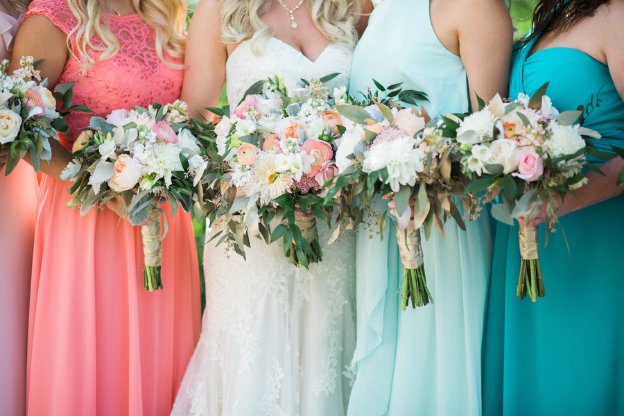 Colorful Wedding At Trillium Events In Spring Lake, Michigan