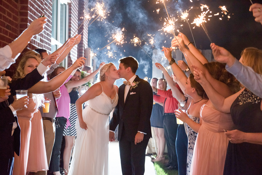 Navy Blue and Pink Wedding in Georgia