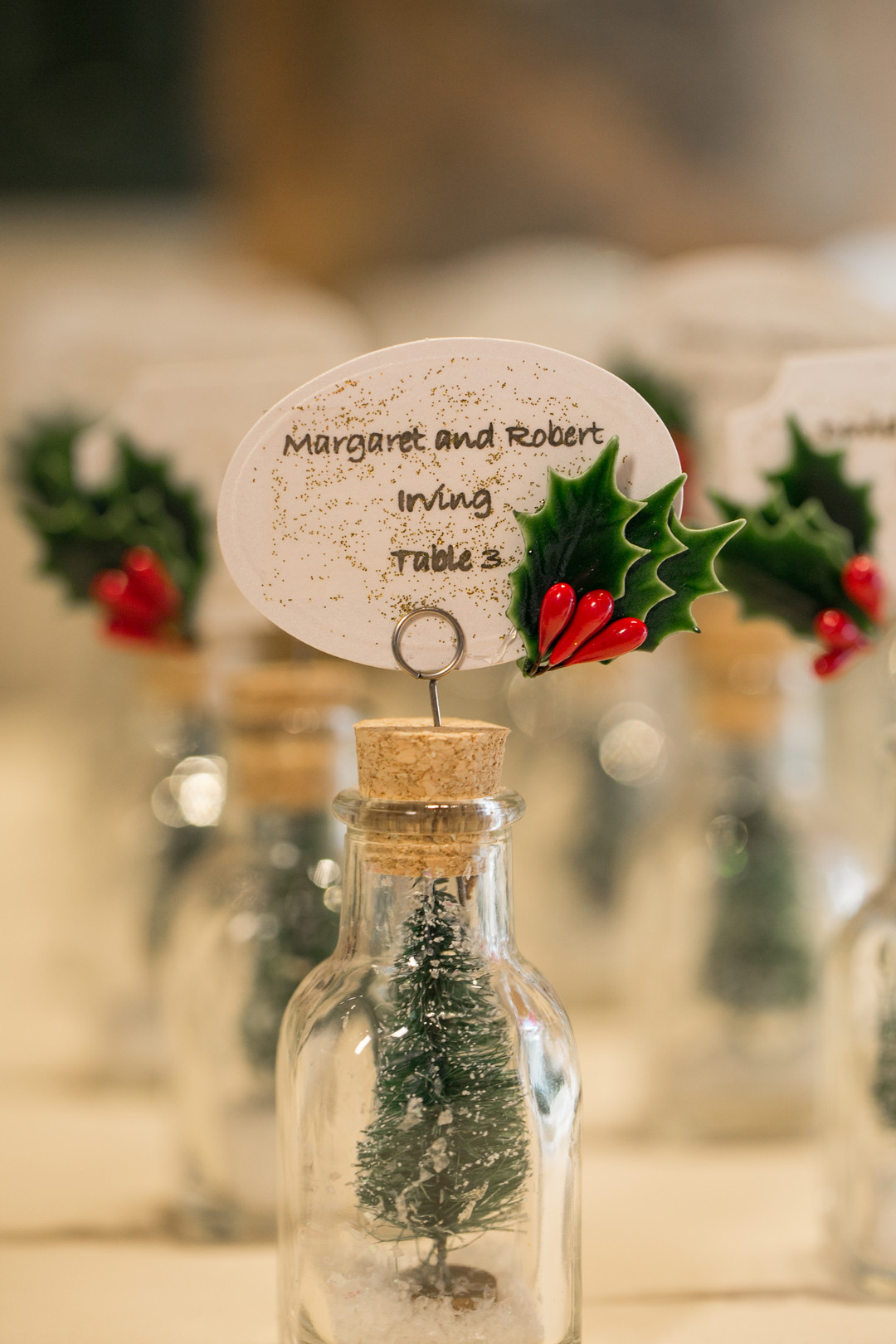 place card holders Christmas Wedding Ideas In December