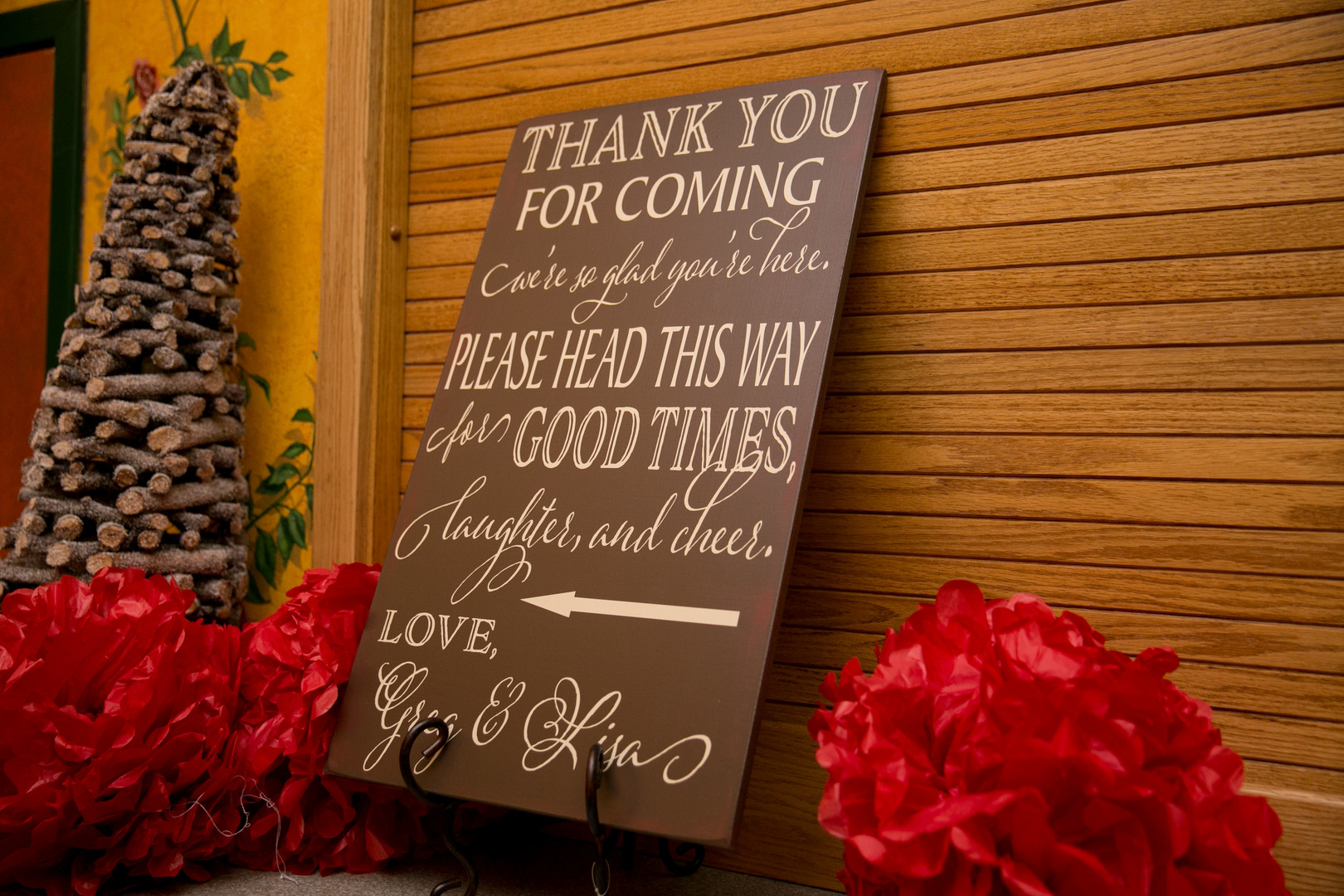 thank you for coming welcome sign Christmas Wedding Ideas In December