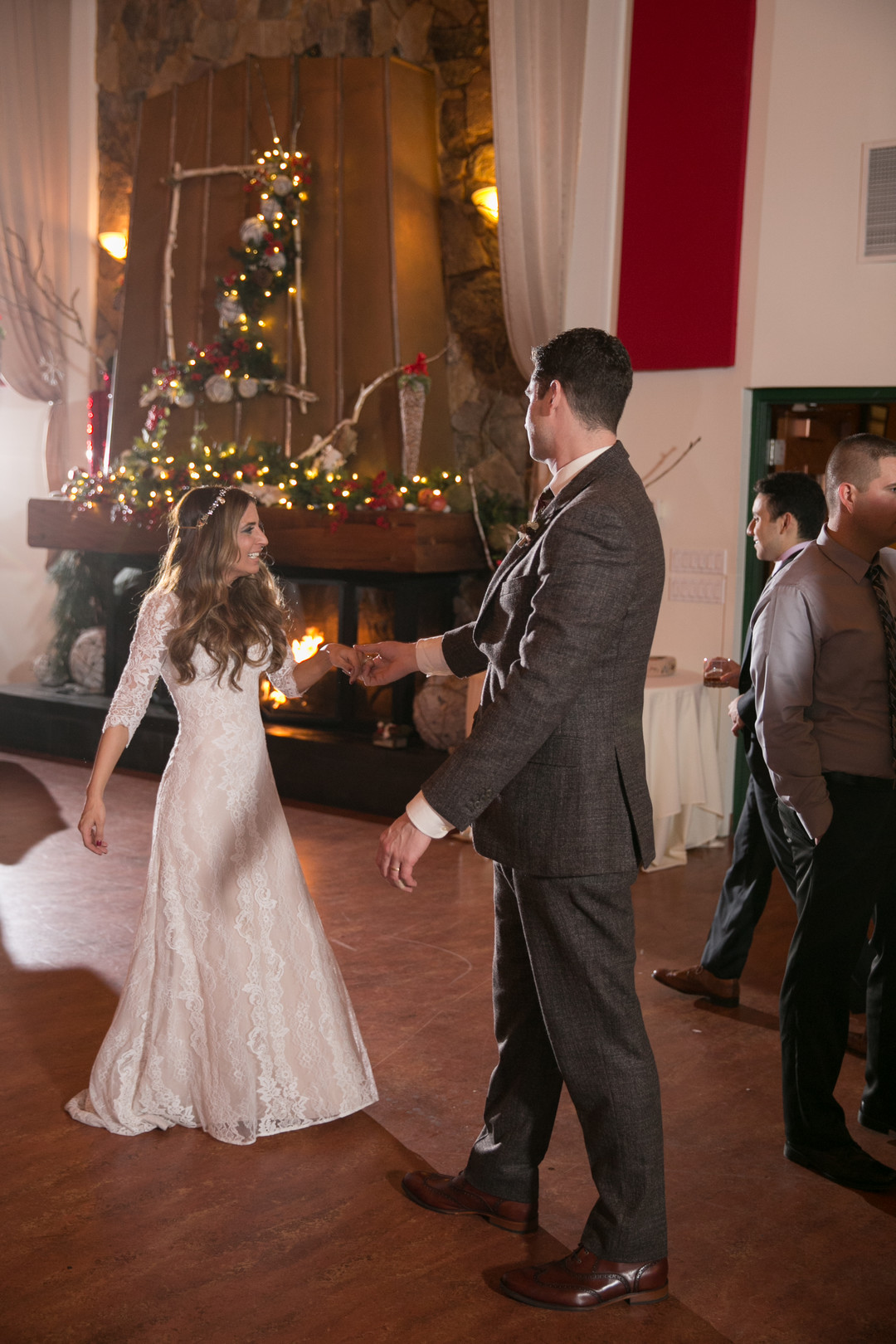 bride and groom first dance Christmas Wedding Ideas In December