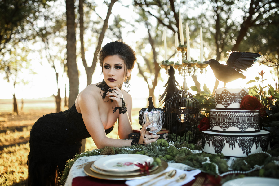 glam halloween wedding ideas