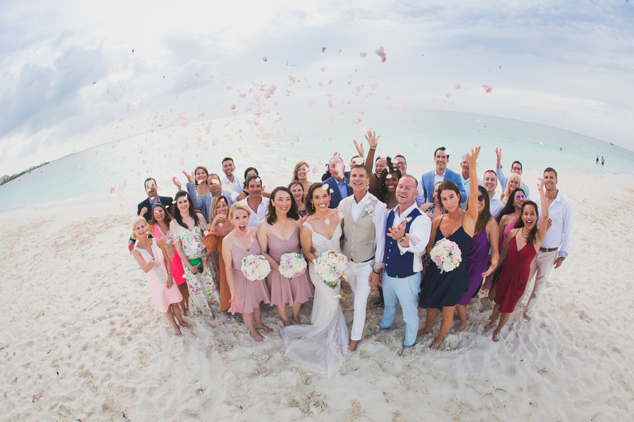 West indies wedding group photo