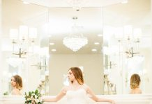 glam bridal portraits