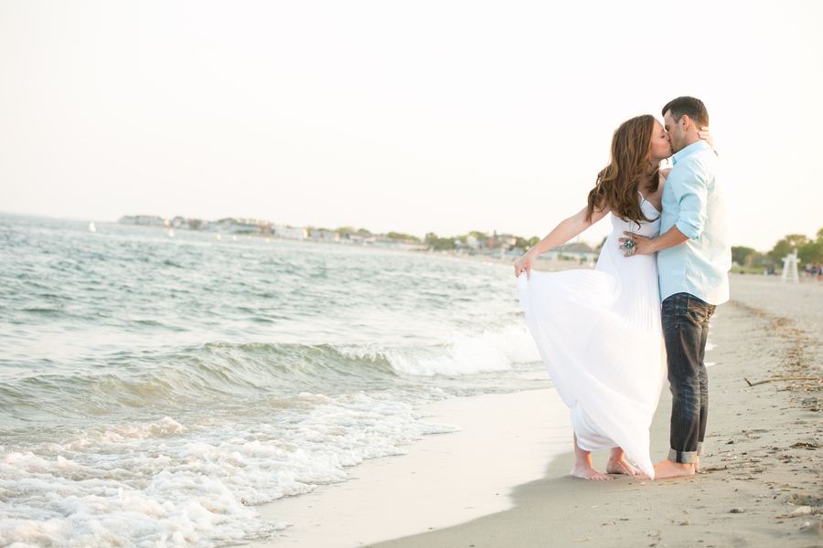 Connecticut beach engagement