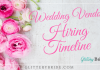 wedding vendor hiring timeline