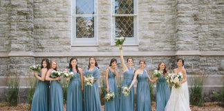 vow to be chic blue bridesmaid dresses