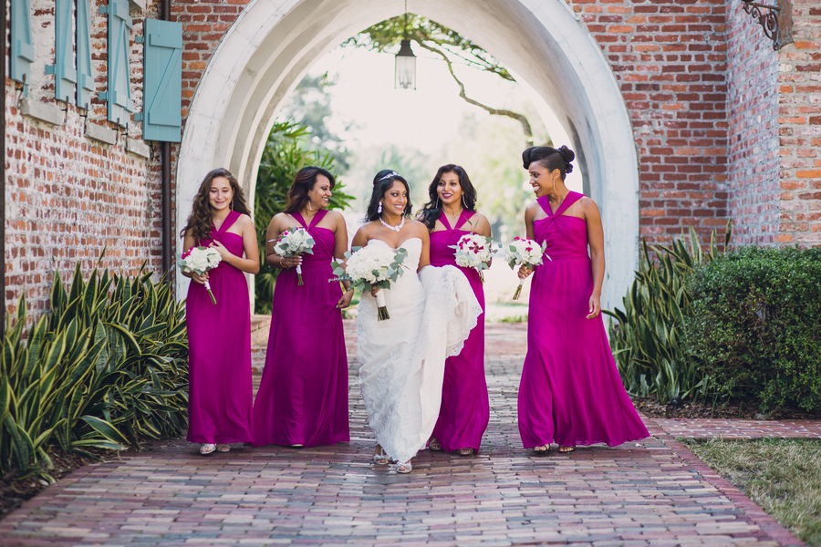 Gorgeous Magenta Wedding at Casa Feliz