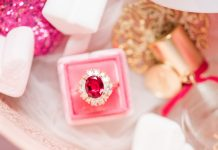ruby red engagement ring