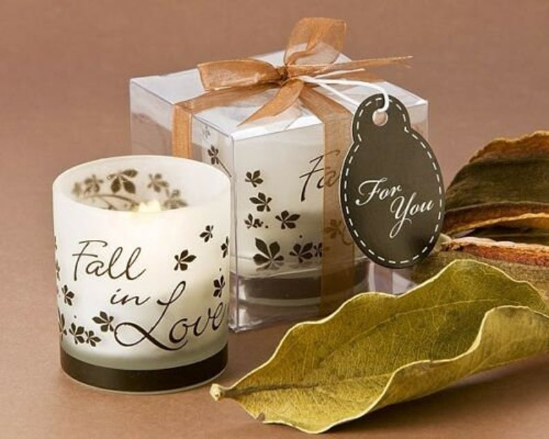 fall tealight holder wedding favor