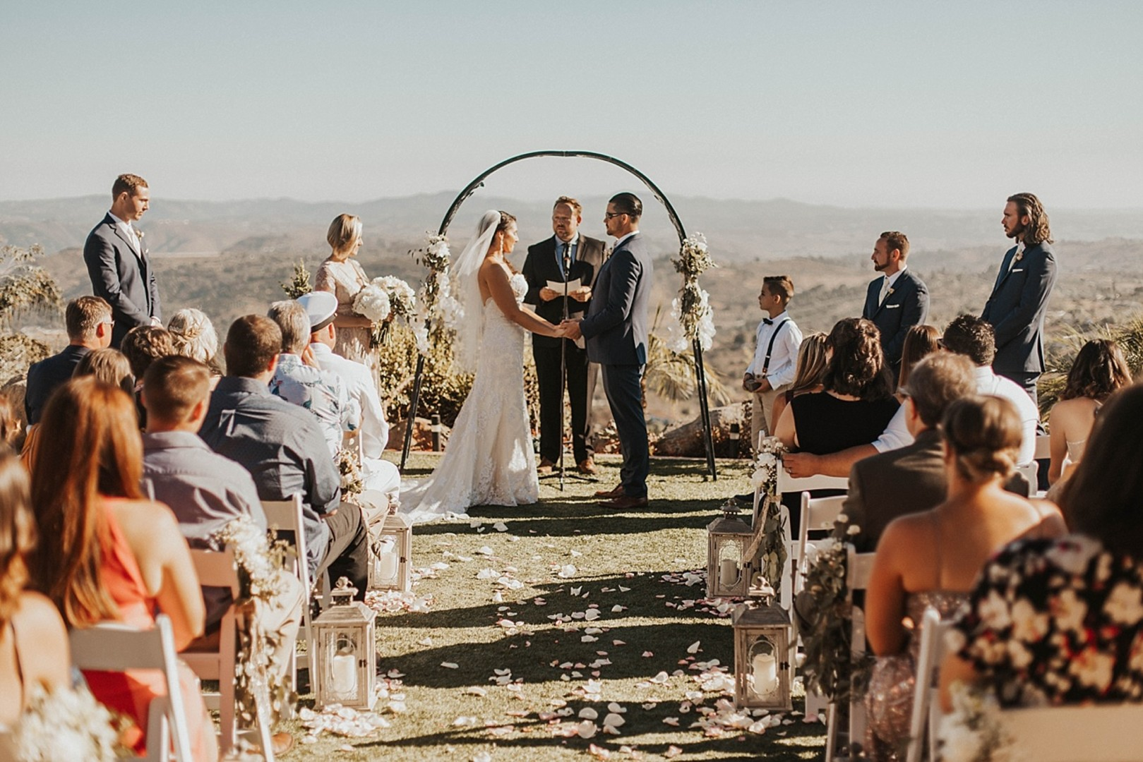 Dragon point villa wedding Ceremony