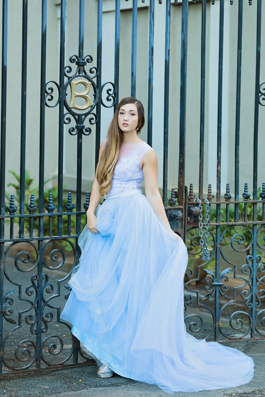 powder blue wedding dress