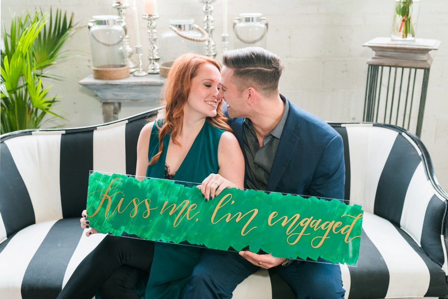 st patricks day engagement session
