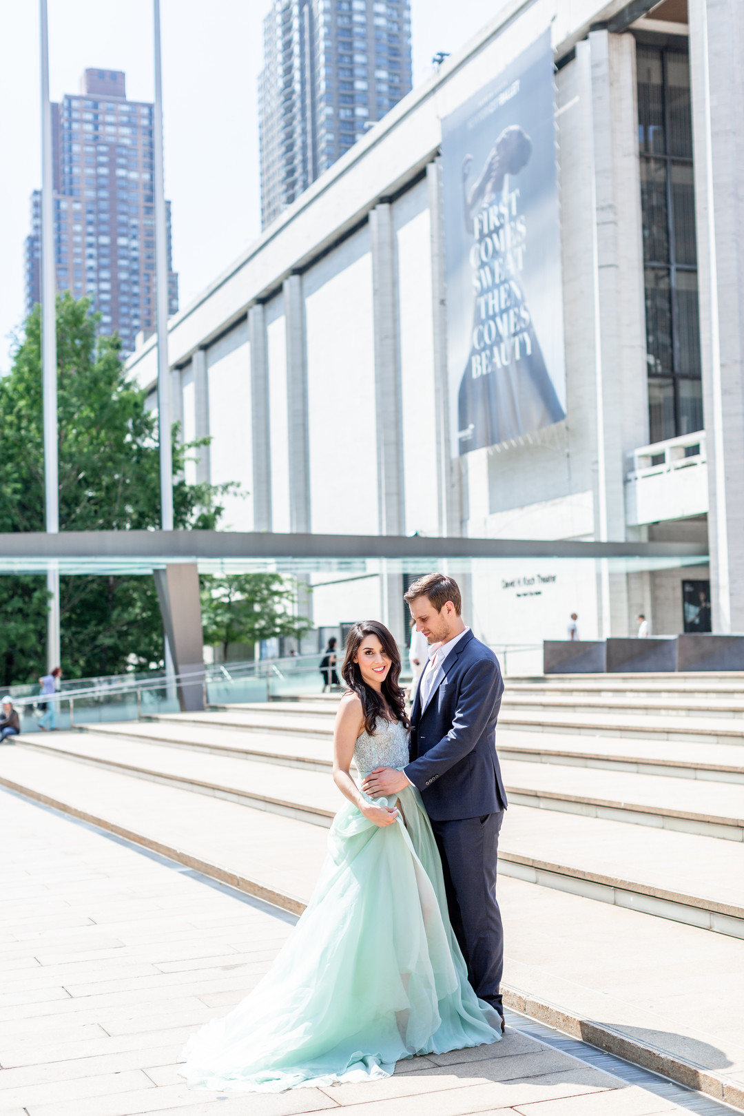 light blue engagement gown