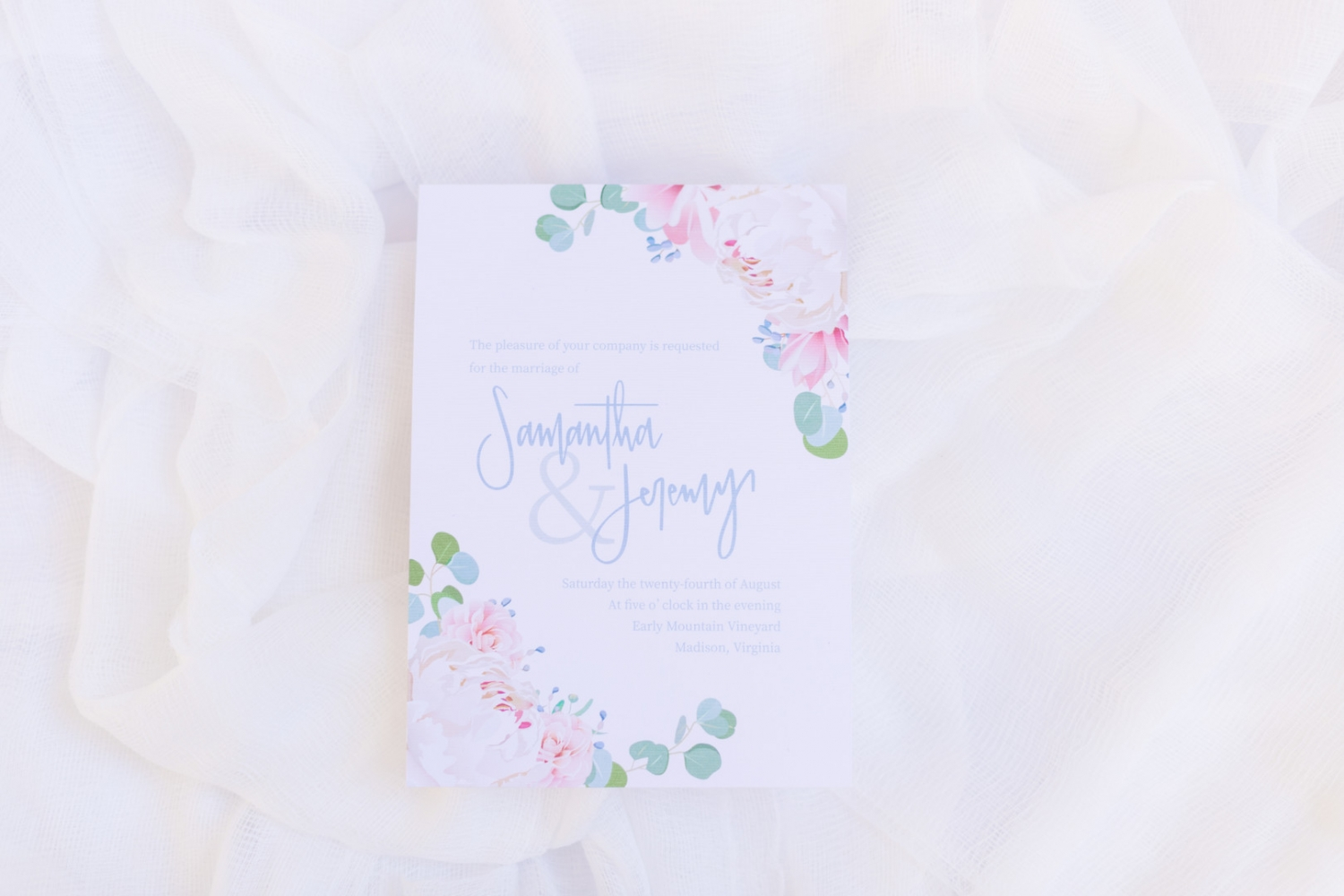 pastel flower invitation