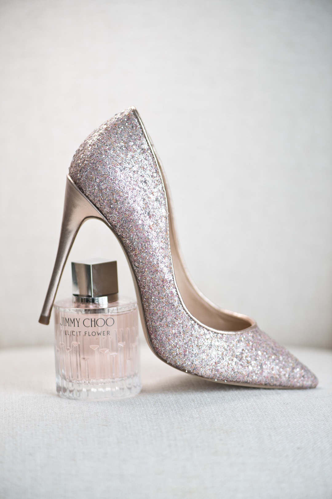 rose gold jimmy choo shoe