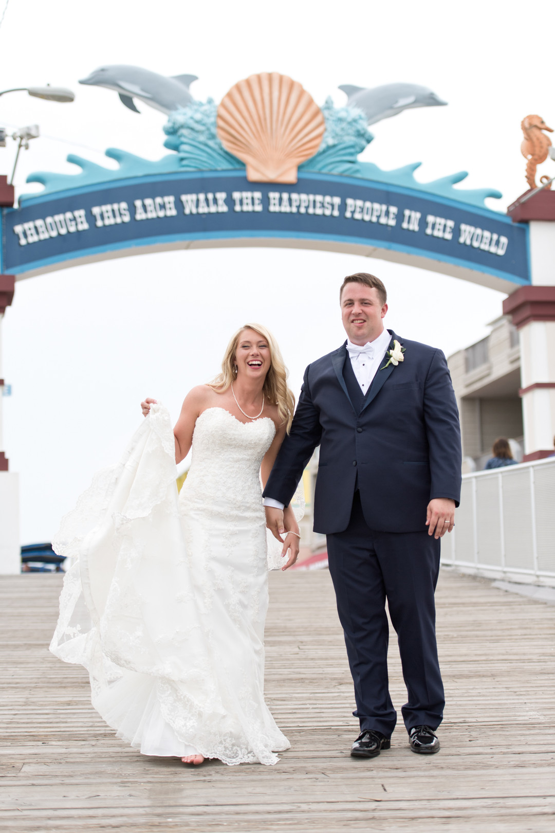 wildwood nj wedding photos on the pier