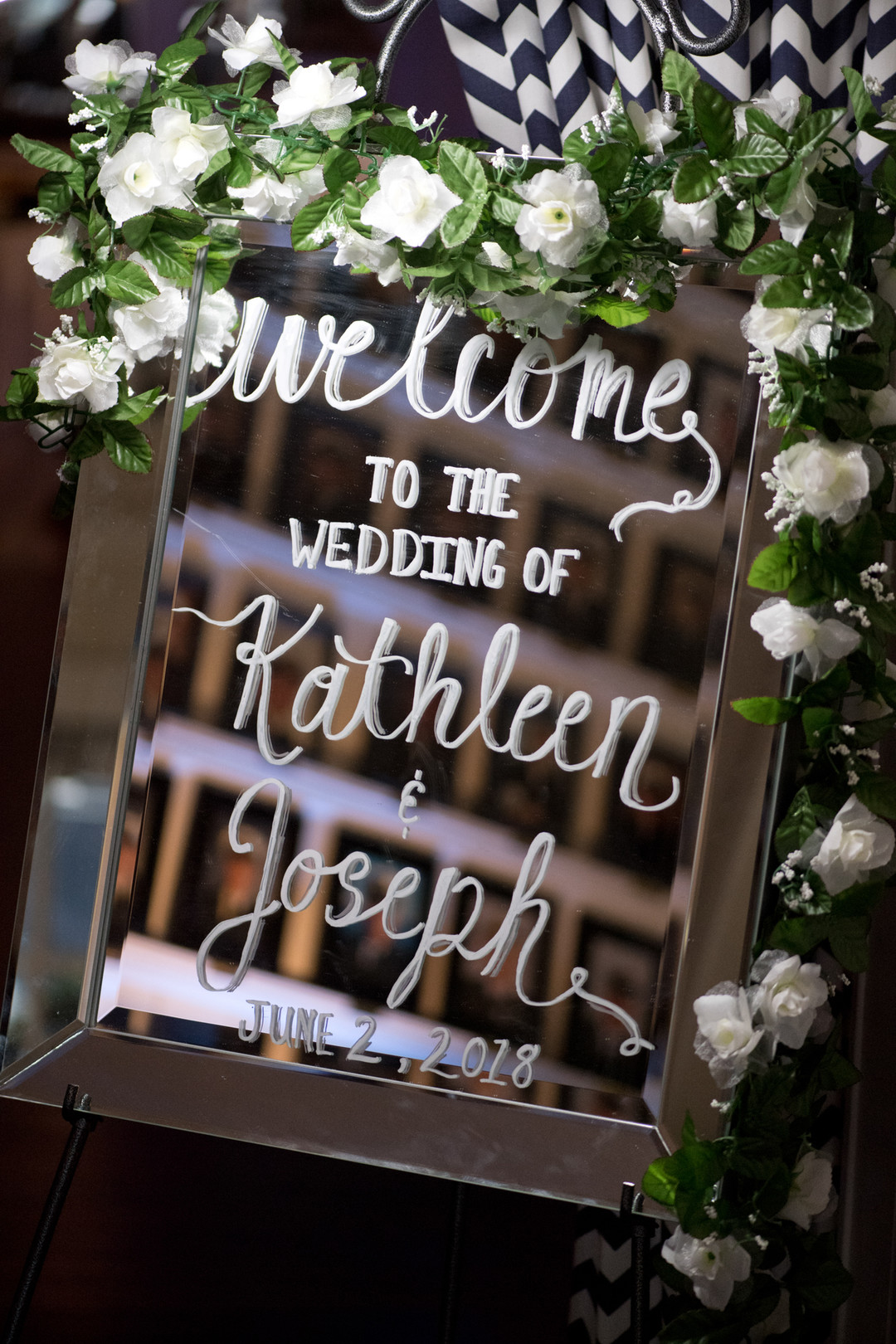welcome to our wedding sign