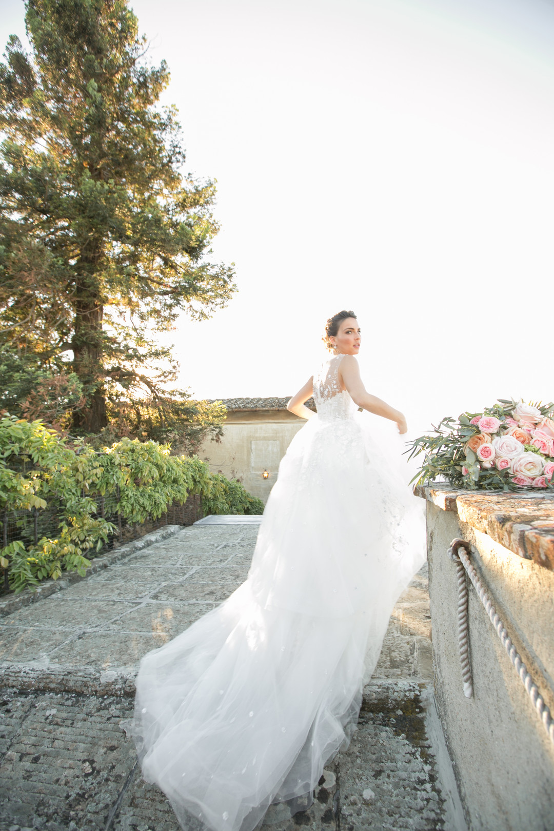 amsale wedding dress in Tuscany