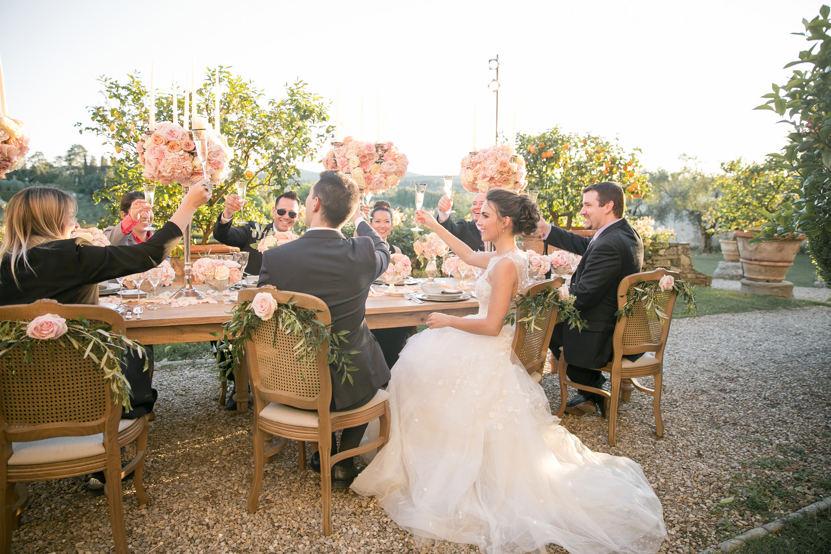 Outdoor Tuscan Wedding at a Wine Estate
