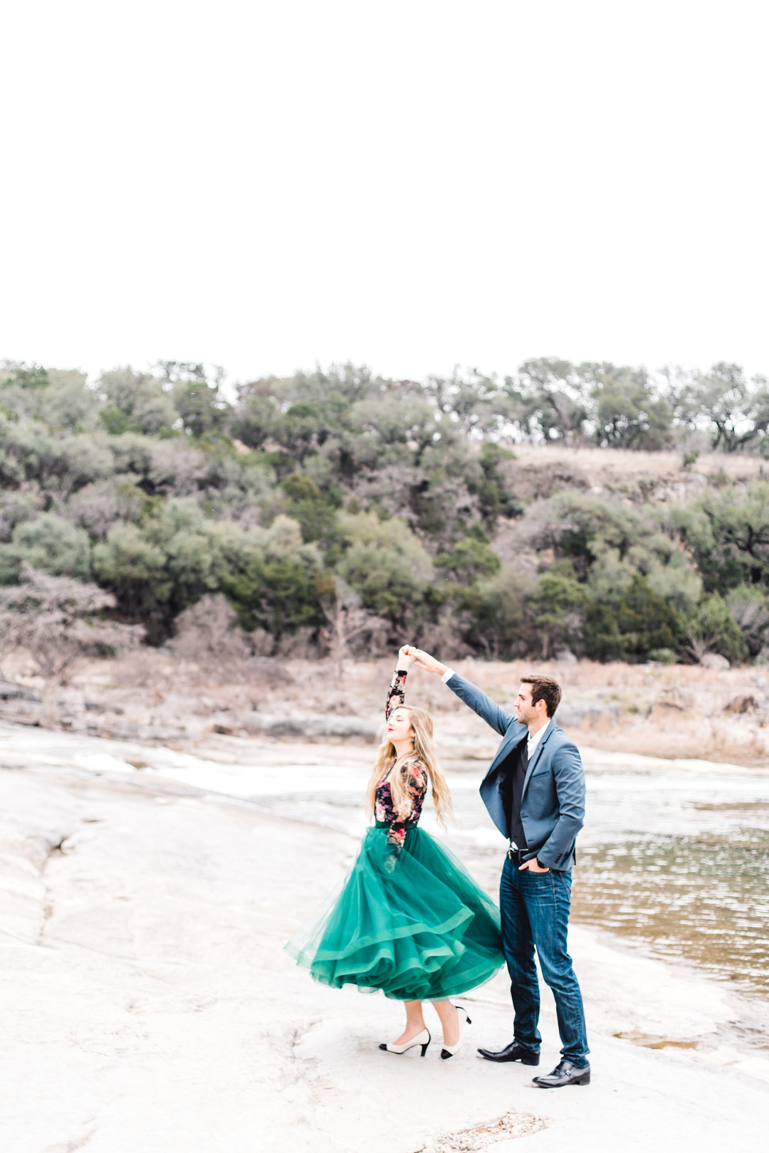 Pedernales Falls Engagement Photos