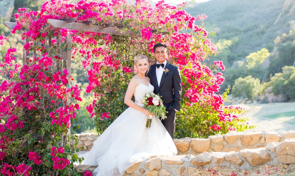Bougainvillea Ceremony Backdrop