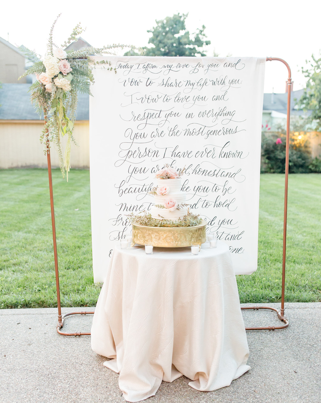 hand drawn calligraphy backdrop