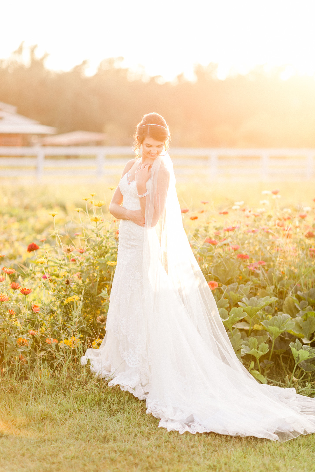 bridal photos at horne bay farm