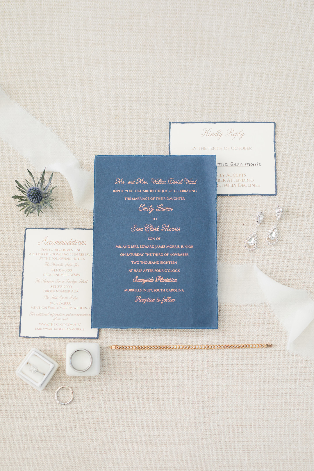 Sunnyside Plantation Wedding invitation