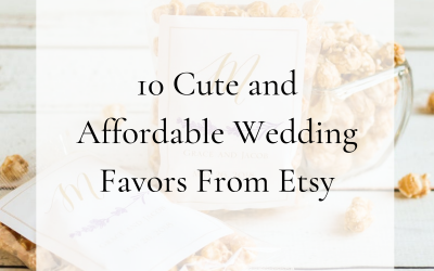 10 Cute and Affordable Wedding Day Favors from Etsy