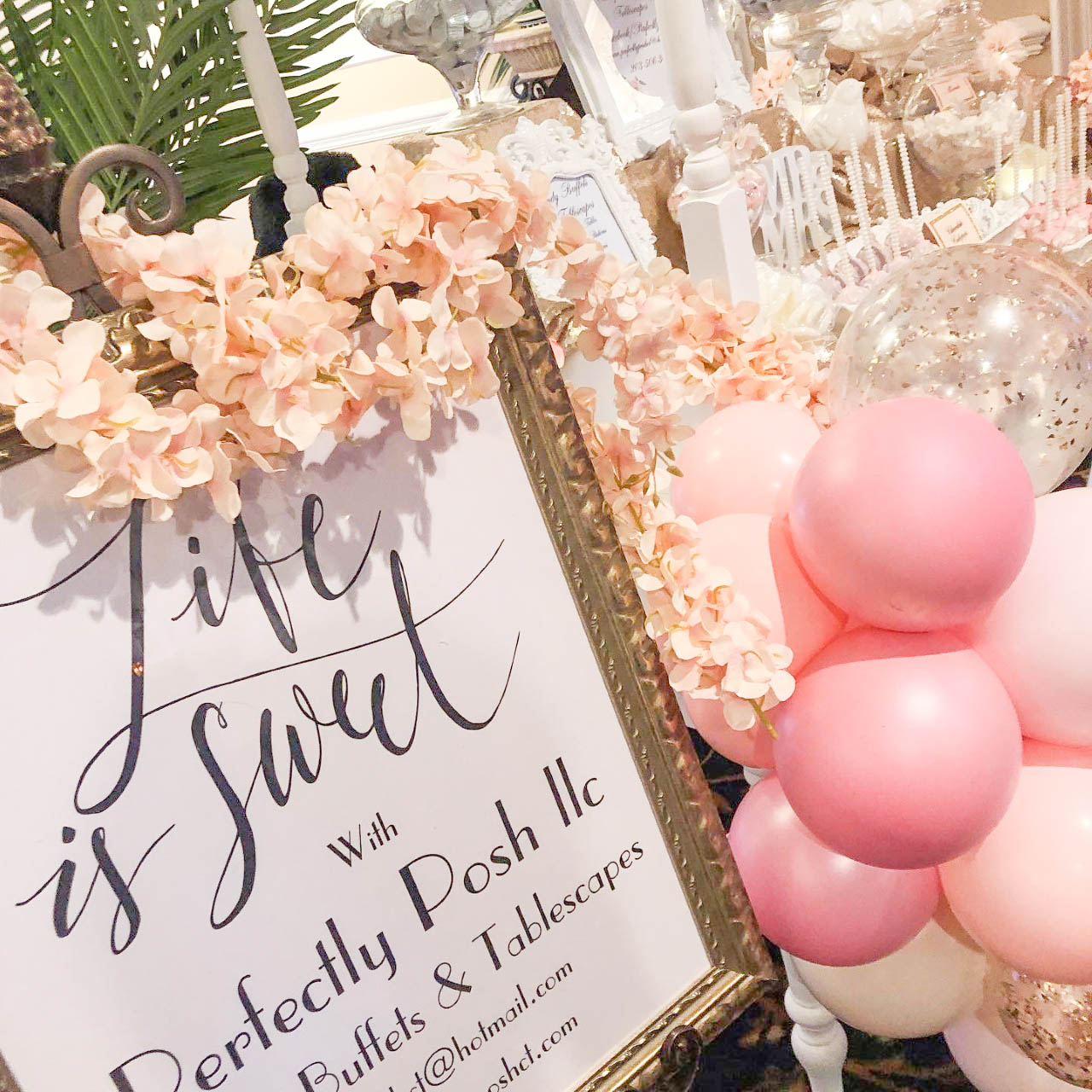 Candy cart sign - CT candy Buffet