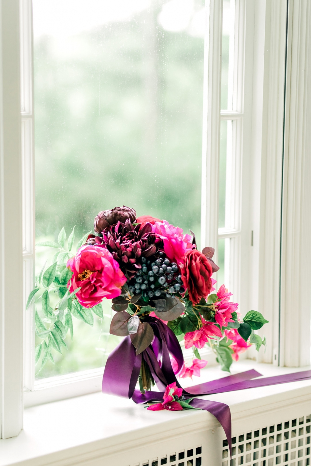 Gorgeous and Vibrant Magenta and Purple bouquet