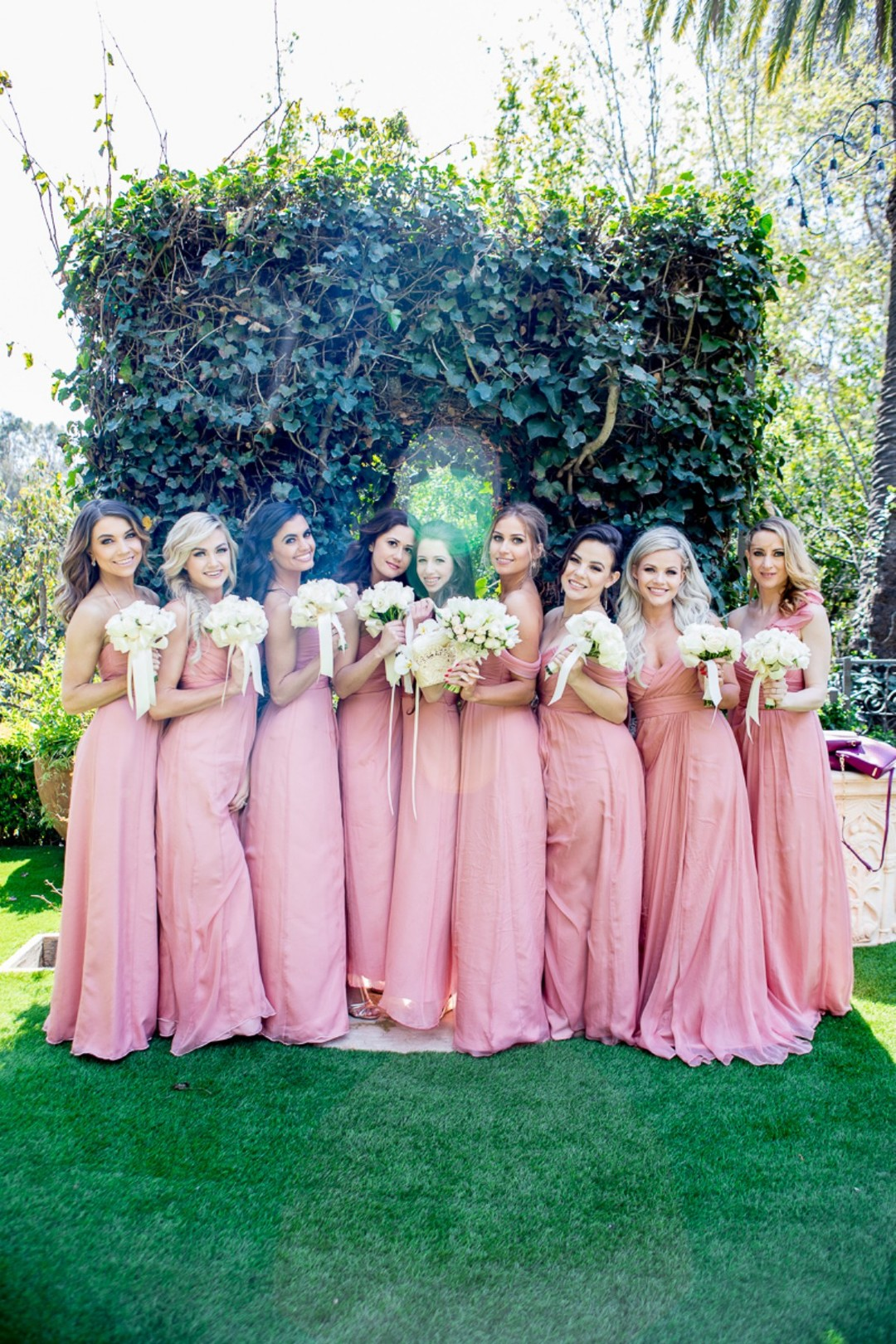 DWTS' Emma Slater and Sasha Farber's Wedding, Bella Blanca Event Center, Emma Slater's bridesmaids gowns