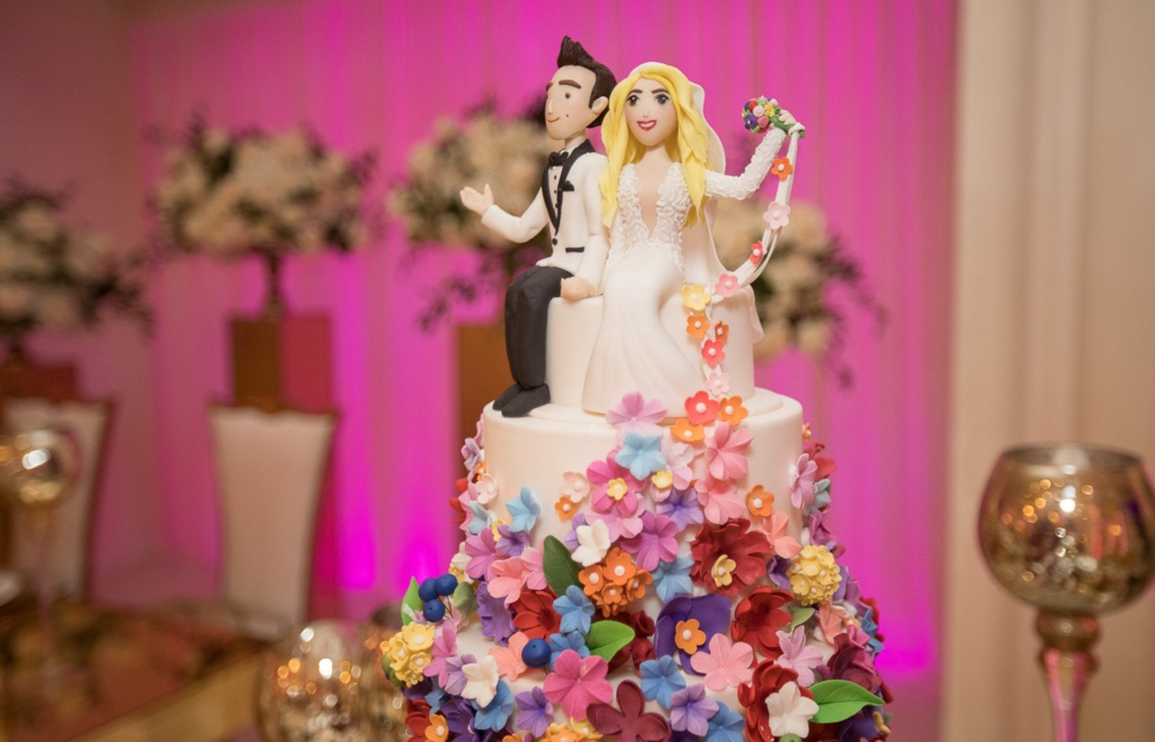 DWTS' Emma Slater and Sasha Farber's Wedding, Bella Blanca Event Center, DWTS Wedding Cake, Emma and Sasha's Wedding Cake Topper