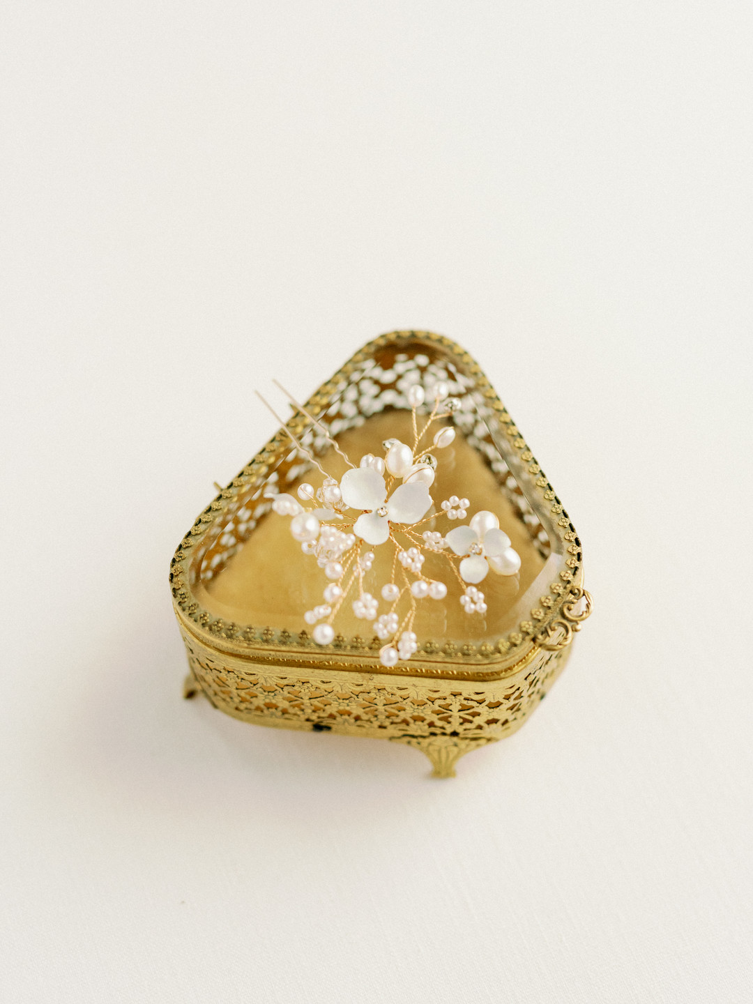 small gold jewelry box for wedding